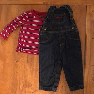 Carters overalls and shirt 9mos